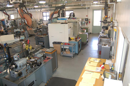 Aerial photo of the Machine Shop